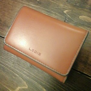 Lodis Toffee Brown Teal Blue Small Leather Wallet